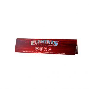 papirčki za zvijanje Elements Red King Size Slim