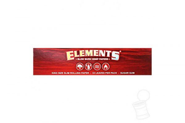 Elements Red King size rizle s filtri za zvijanje