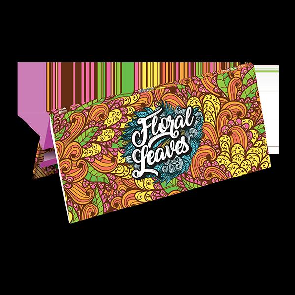 papirčki za zvijanje Snail Floral Leaves
