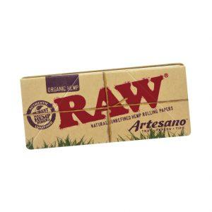 papirčki RAW Organic Hemp Artesano Kingsize Slim