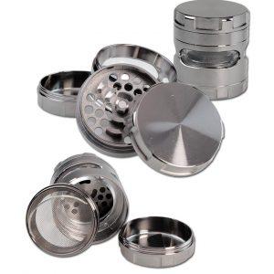 grinder Metal (Black Leaf) Siv 4 delni